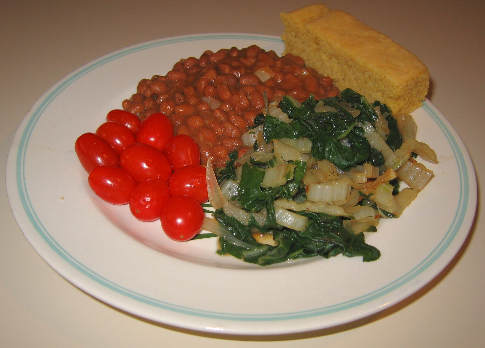 [20080415+Taxday+Green+Chard+with+Cornbread+and+Baked+Beans.jpg]