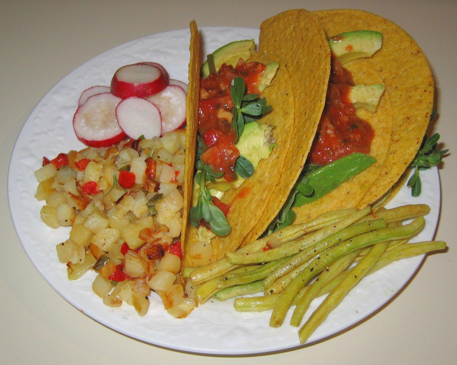 [20080623+Purslane-Avocado+Tacos,+Tuscan-Style+Beans,+O]