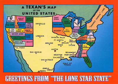 Map Of The Us According To Texas Mapping Texas | Prêt à Voyager
