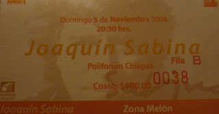 Sabina Concert Ticket
