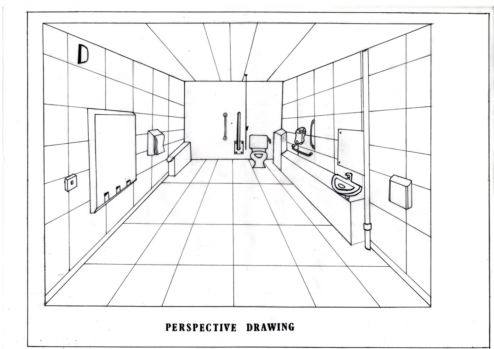 Toilet Schematic Section Drawings