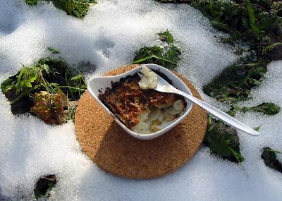 Topinambur-Gratin mit Thymian-Parmesan-Kruste nach Jamie Oliver