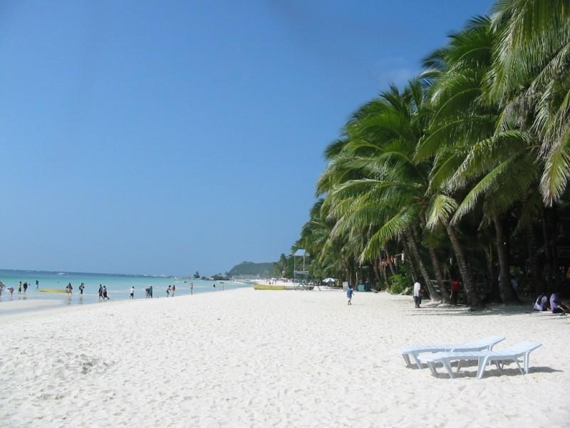 Strand auf Boracay, Philippinen - der berühmte White Beach
