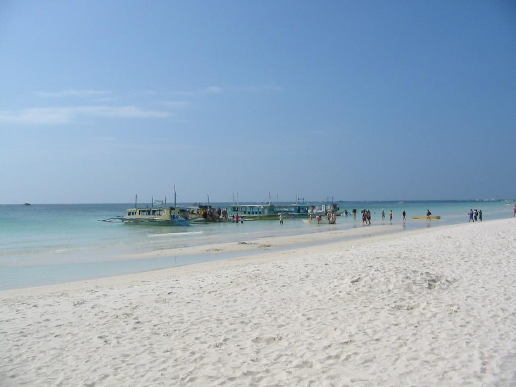 Boracay - Ankunft mit dem Boot am White Beach