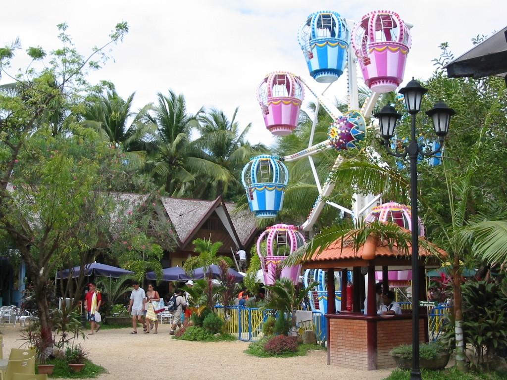Zentrum von Boracay, Philippinen