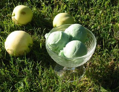 Klarapfel-Eis; Eis aus Äpfeln; Rezepte mit Klaräpfeln; Apfeleis