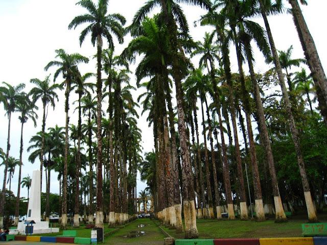 Park nahe des Hafens von Puerto Limón, Costa Rica