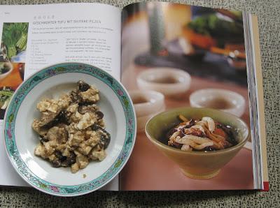 Zubereitung Geschmorter Tofu mit Shiitake-Pilzen