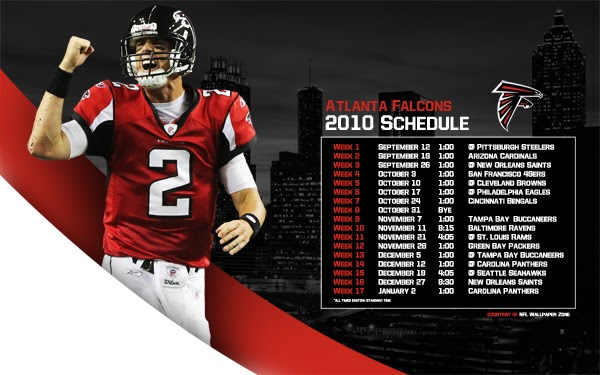 Matt Ryan Atlanta Falcons Hd Background Wallpapers Free: NFL Wallpaper Zone: 2010 Atlanta Falcons Schedule