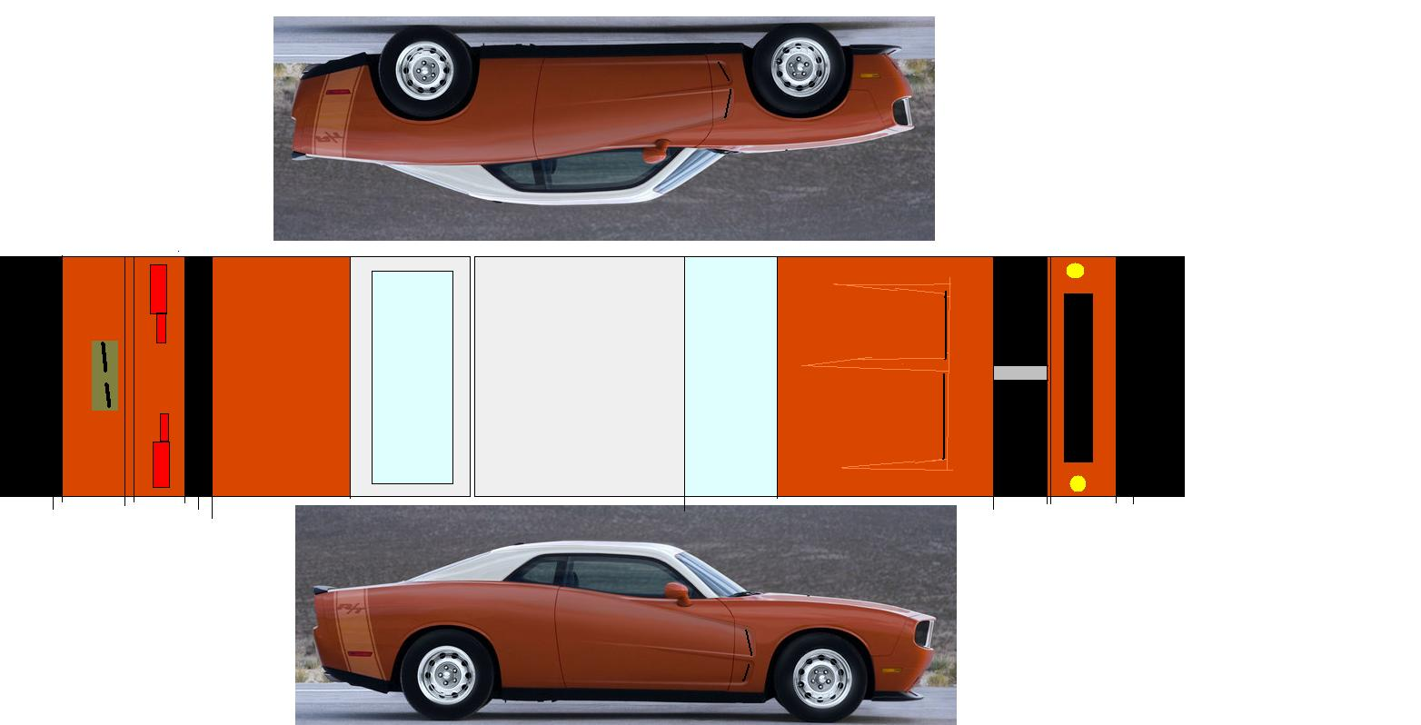 Awesome Muscle Cars >> mikes paper models: muscle cars