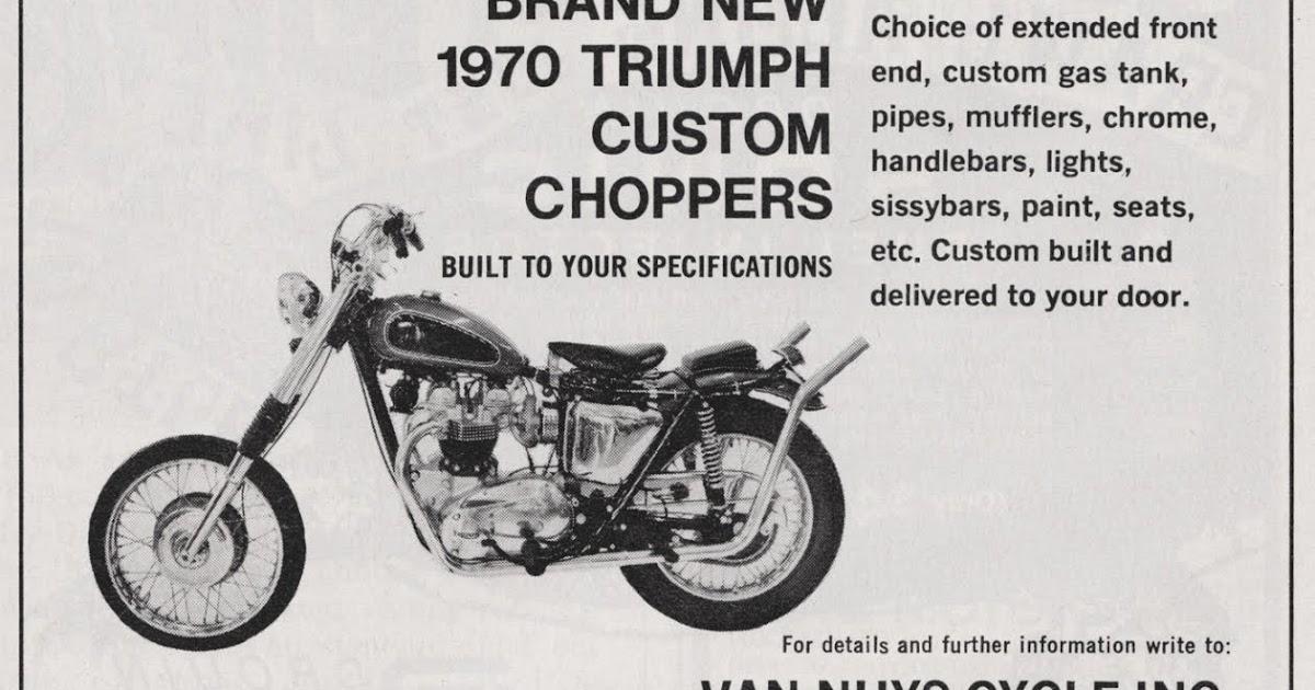 SHOW & GO CYCLE SHOP: Van Nuys Cycle 1970 Triumph Chopper
