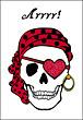 Valentine Pirate Skull