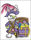 Easter Pirate Bunny Invitation