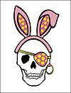 Easter Pirate Skull Invitation