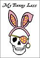 Easter Pirate Skull Postcard
