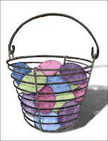 Wire Egg Basket Greeting Card