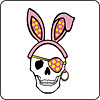 Easter Pirate Skull Coaster