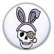 Easter Pirate Skull Button