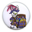 Easter Pirate Bunny Button