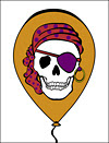 Birthday Pirate Skull Greeting Card
