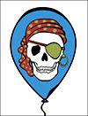 Pirate Party Skull Invitation