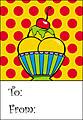Ice-cream Sundae Gift Tag