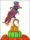 Top Hat Raven Greeting Card