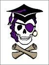 Grad Pirate Skull