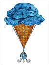 Blue Ice Cream Cone