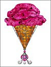 Pink Ice Cream Cone