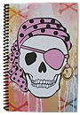 Pink Pirate Skull Journal