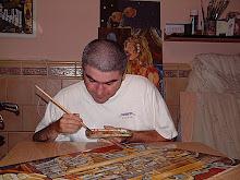 pintando- ORGANO-cuadro para la sammergallery