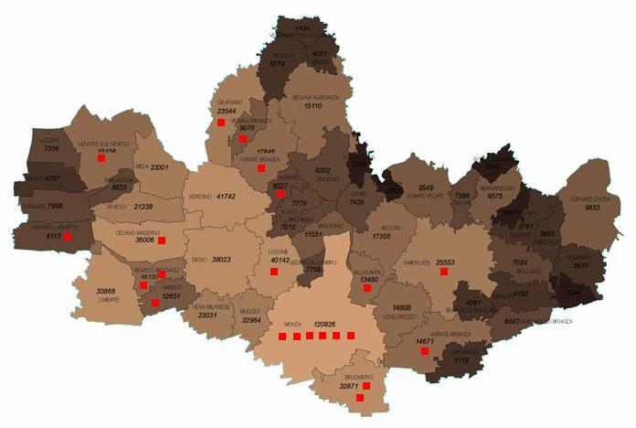 Cartina Brianza Lombardia.Brianza Centrale La Mappa Dei 25 Siti Contaminati In Brianza