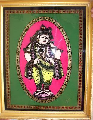 Sk Creative Center Reverse Glass Painting Krishna