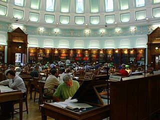 Reading room of the National Library of Ireland in Dublin