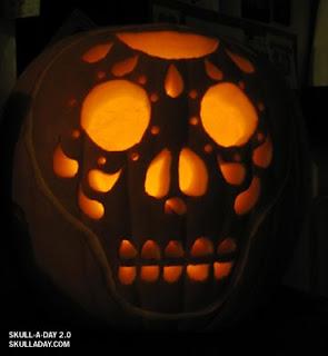 Pumpkin Carving Dia De Los Muertos Style
