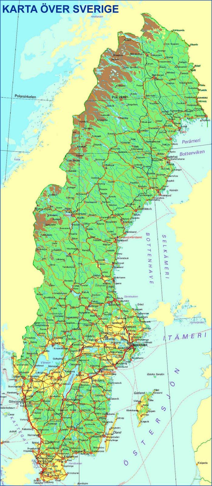 nord sverige kart Begynners   blogg om alt og ingenting: Sverige. nord sverige kart