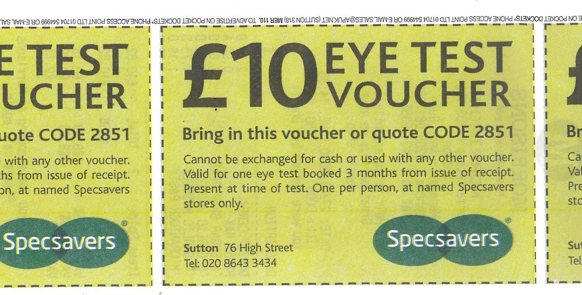 3036f0ed6ab Specsavers eye test voucher £10 economic cooperation organisation members