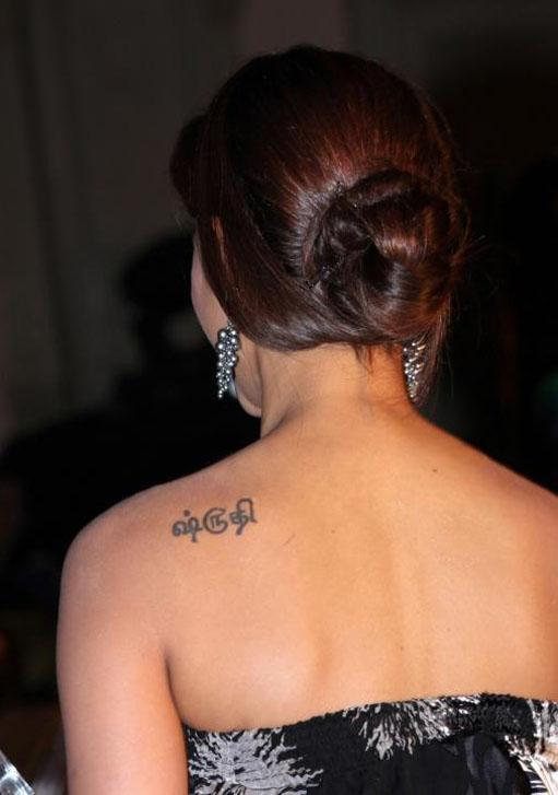 Tattoo Area: Actress Shruti Hassan Tattoo - Bollywood Tattoo