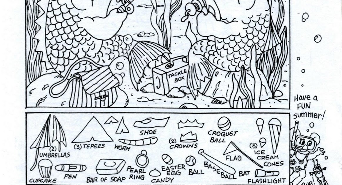 Hidden Pictures Publishing Hidden Picture Coloring Page Summer