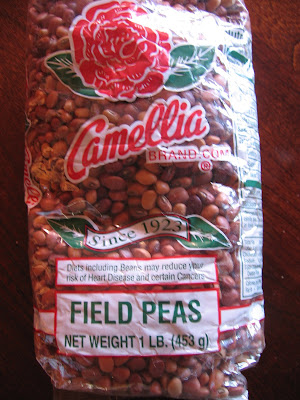 Fresh field peas are far superior to dried ones, but I had to make do ...