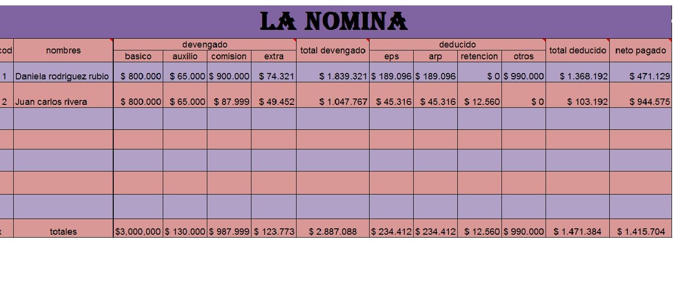 Excel Noveno 4 Nomina Modulo 5