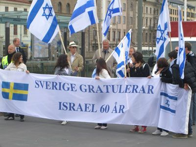 Swedish far-right salutes Israel