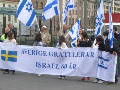 Swedish far-right salutes Israel