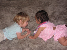 Isabella Grace with her cousin Nila this weekend