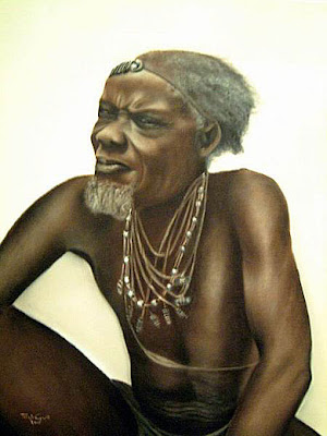 Ancião, Toia Neuparth, pintora angolana