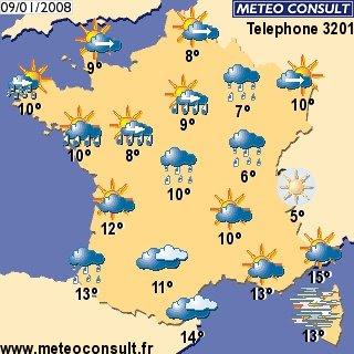 En direct: Prévisions météo France les prochains jours