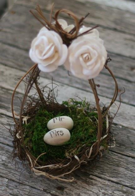 Mhd Wholesale Wedding Cake Topper Birds Nest Flower Girl
