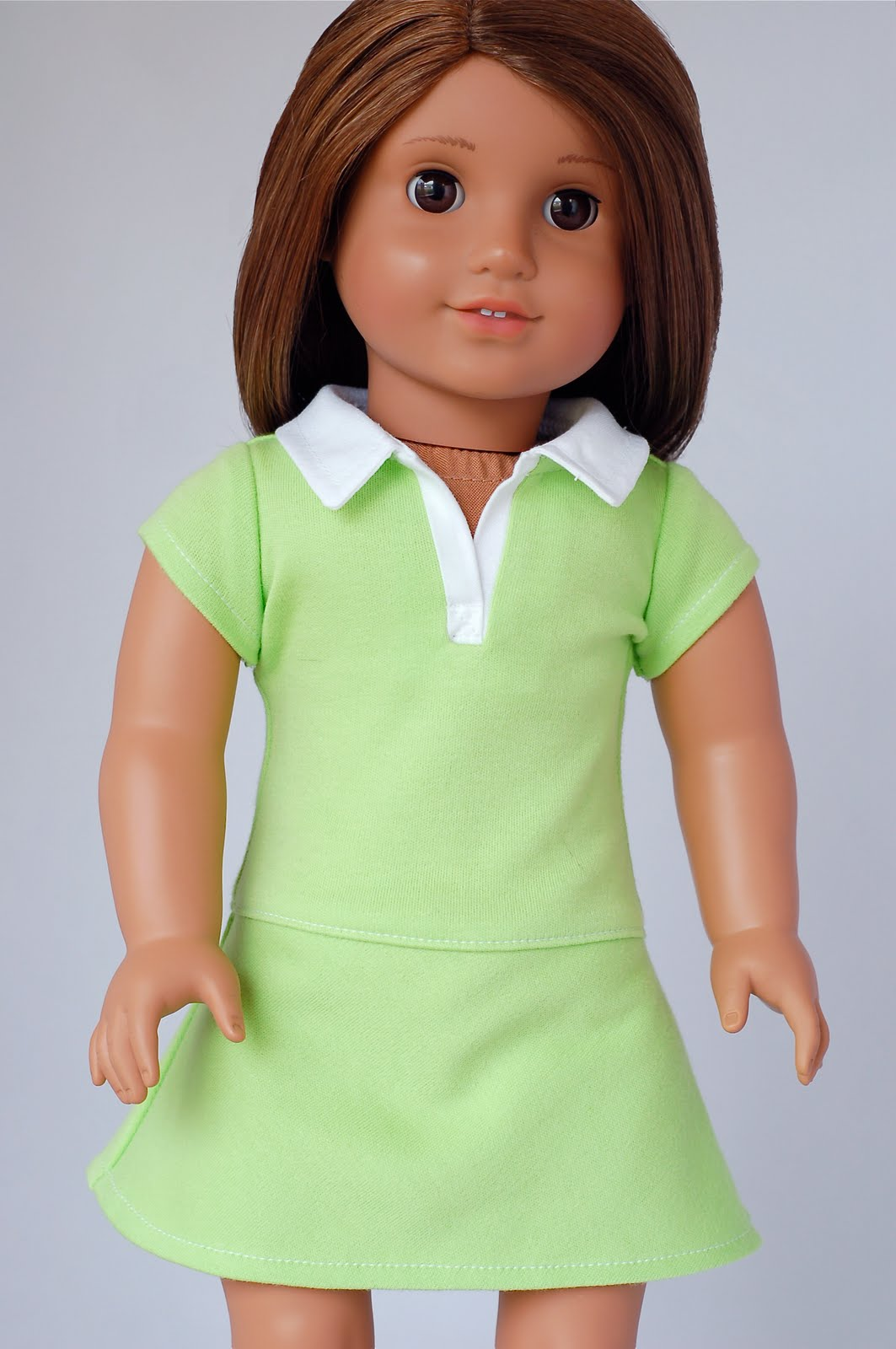 Doll Clothes Patterns By Valspierssews Review Of American: American Girl Doll Clothes Pattern: Polo Shirt Dress
