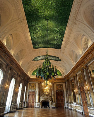 Insect Art: Ceiling made of Beetles!